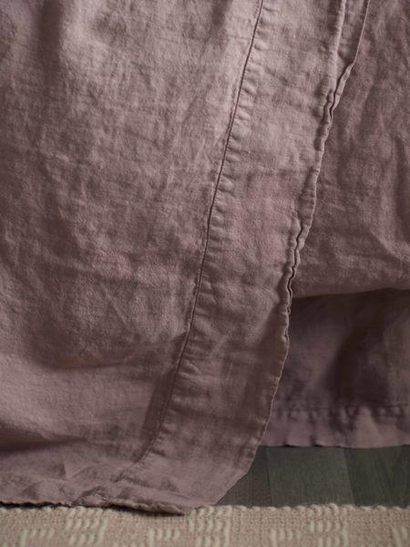 Vintage Rose 100% Linen Flat Sheet