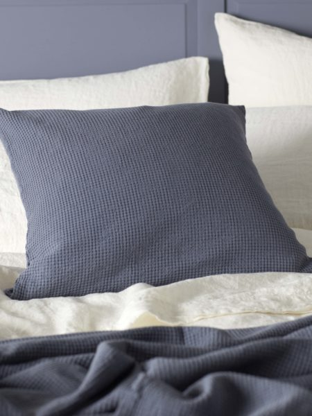 Waffle French Blue Cushion Cover