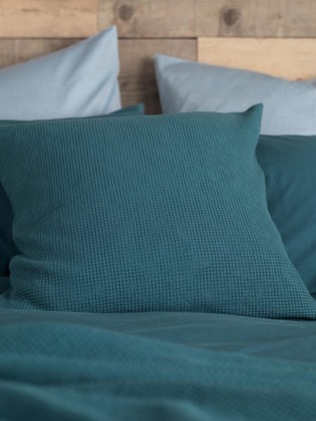 Waffle Teal Cushion Cover