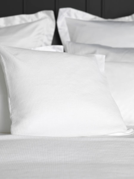 Waffle White Cushion Cover