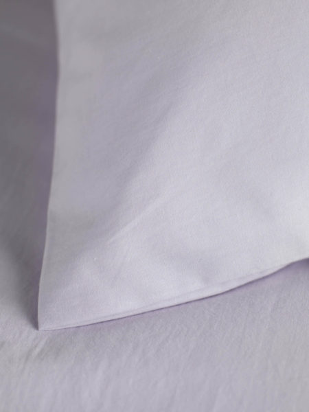 Washed Cotton Percale Lilac Pillowcase