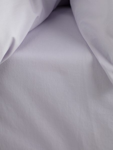 Washed Cotton Percale Lilac Fitted Sheet