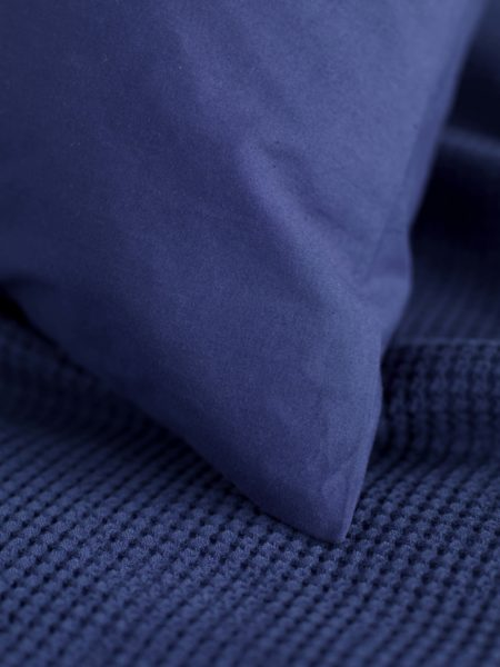 Washed Cotton Percale Navy Duvet Cover
