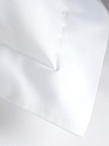 White Cotton Percale 400 Thread Count Housewife Pillowcase