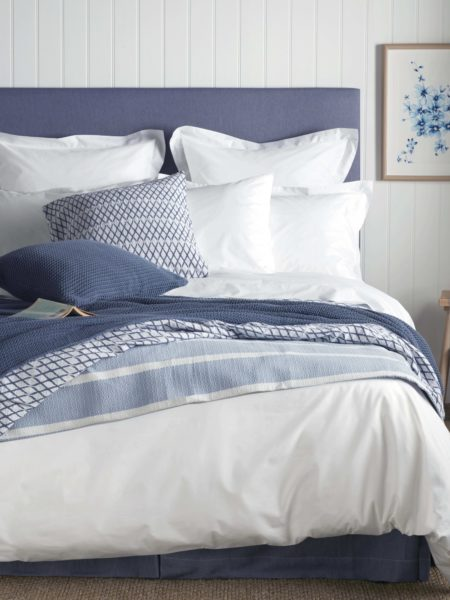 White Cotton Percale 400 Thread Count Duvet Cover