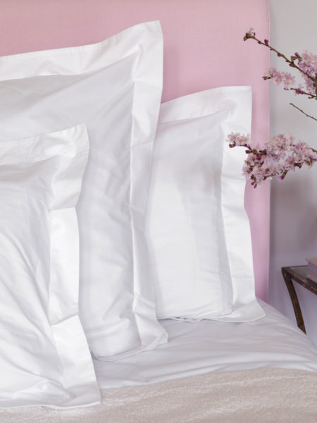 White Cotton Percale 200 Thread Count Housewife Pillowcase