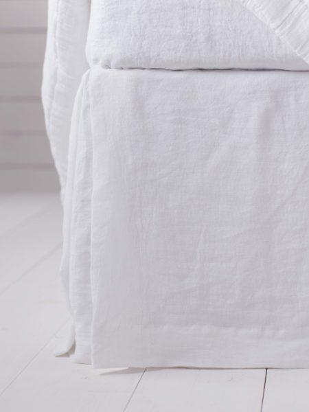White 100% Linen Valance
