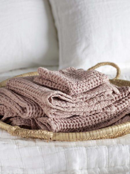 Blush Pink Waffle Towels