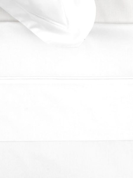 White Cotton Cord Flat Sheet