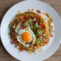 Breakfast in Bed: Loaded Potato Waffles