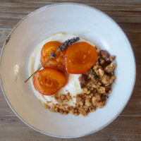 Honey and Lavender Roast Apricots with Greek Yogurt and Homemade Granola
