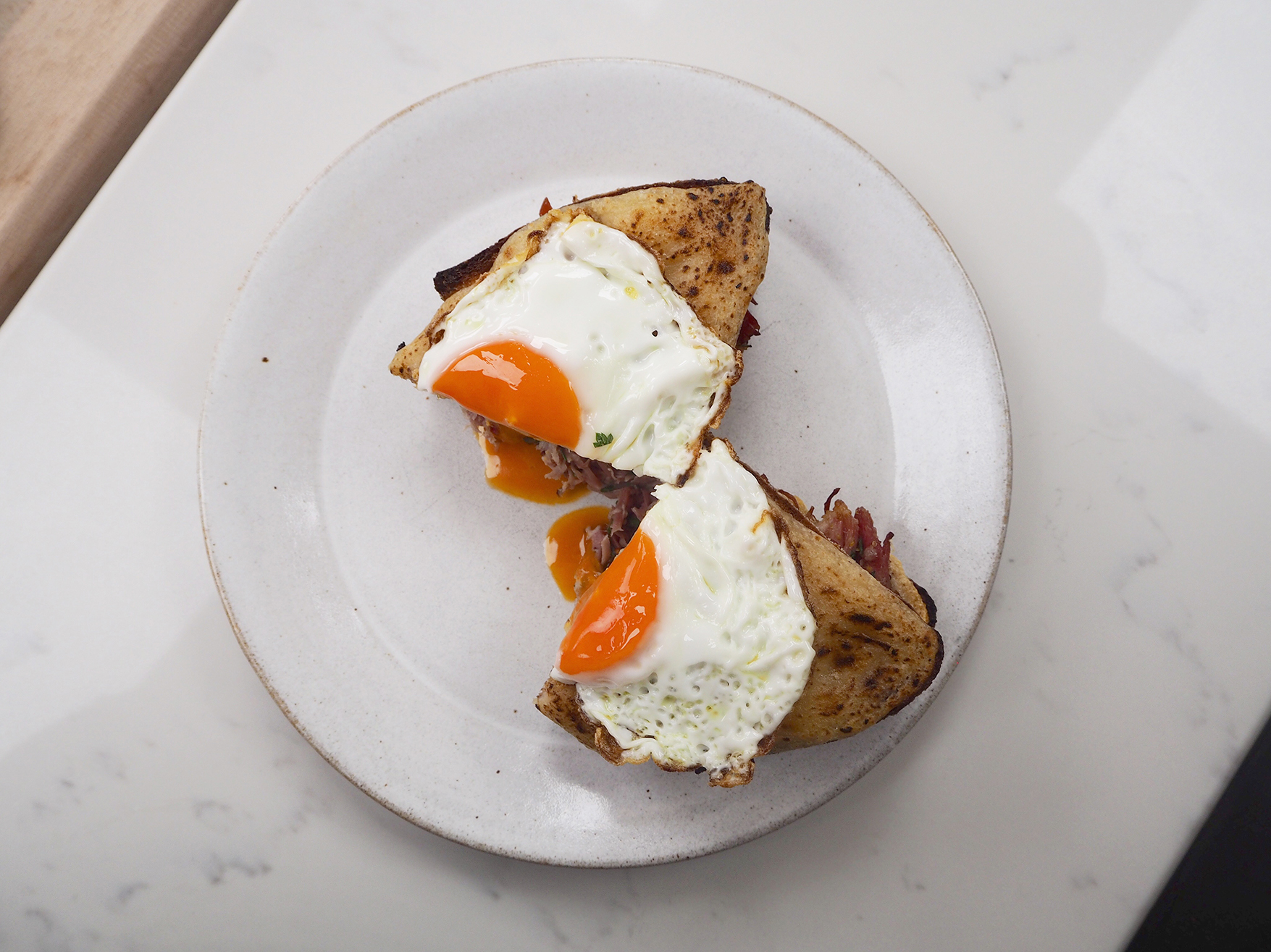 Topping the Croque Madame with a Fried Egg