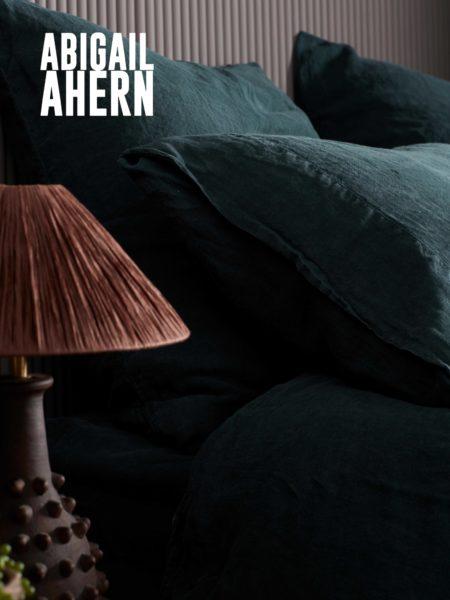 Darkest Spruce 100% Linen Pillowcase
