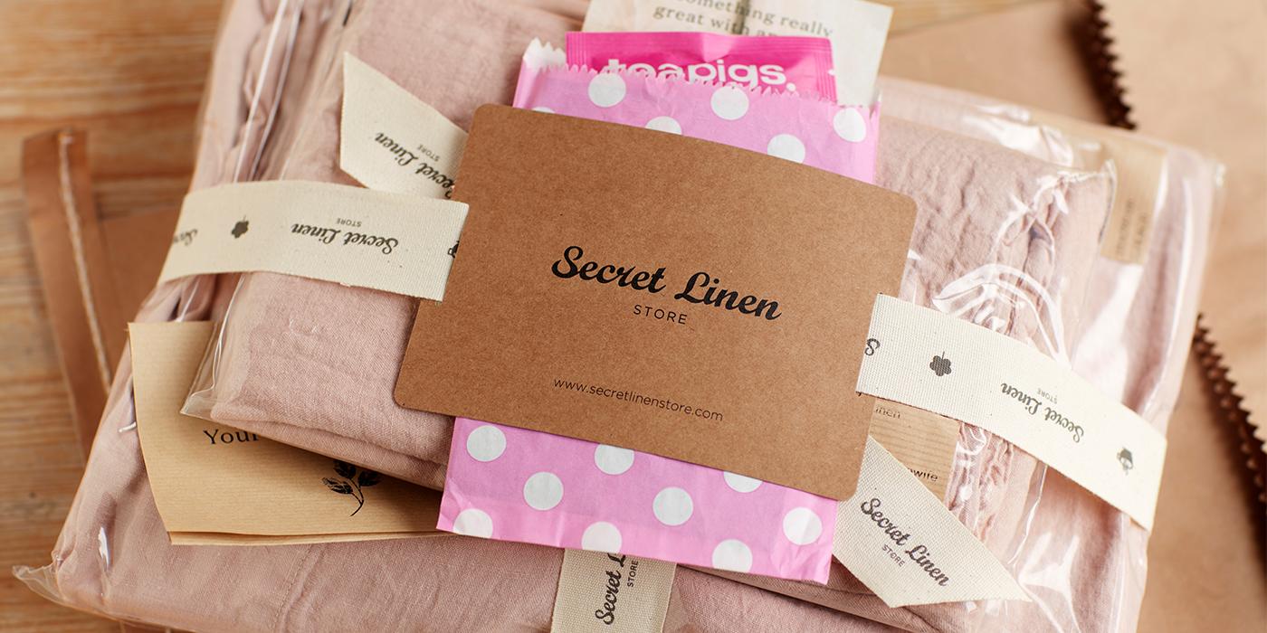 Blush Pink Linen Bedding Parcel