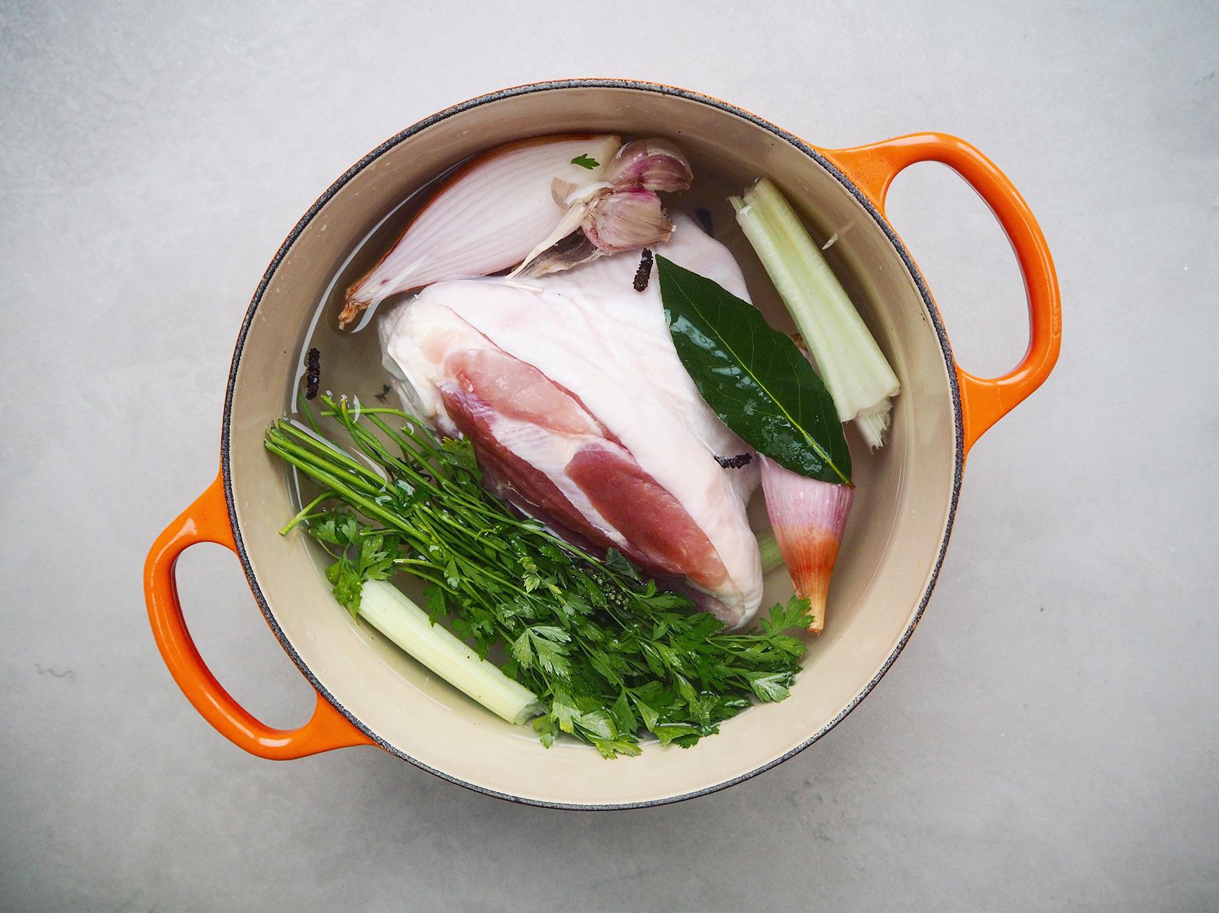 Cooking a Ham to Make Ham Hock