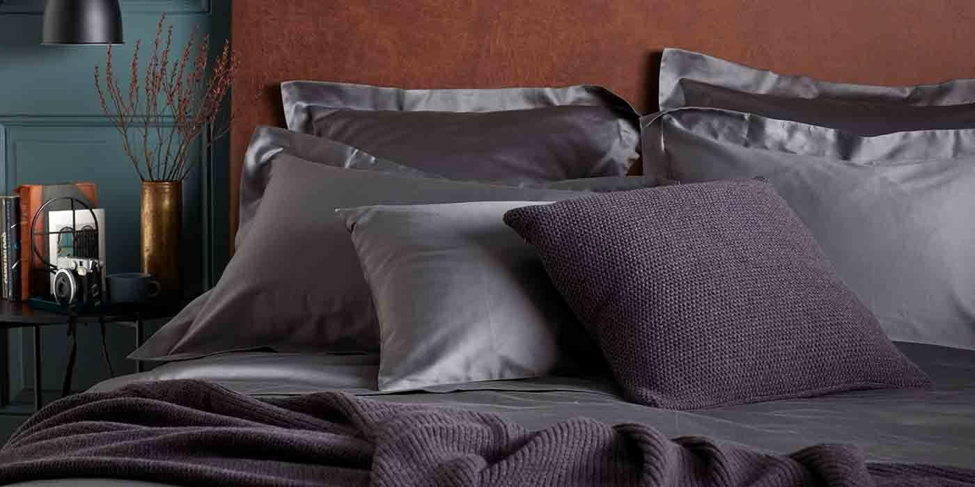 Luxury 600 Thread Count Charcoal Grey Luxury Bed Linen