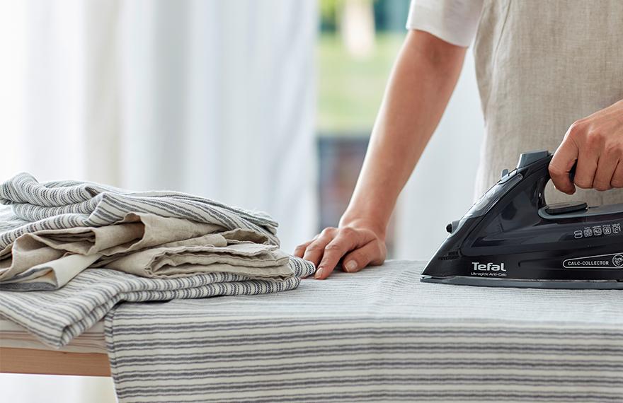 Ironing Ticking Stripe Grey Bedding