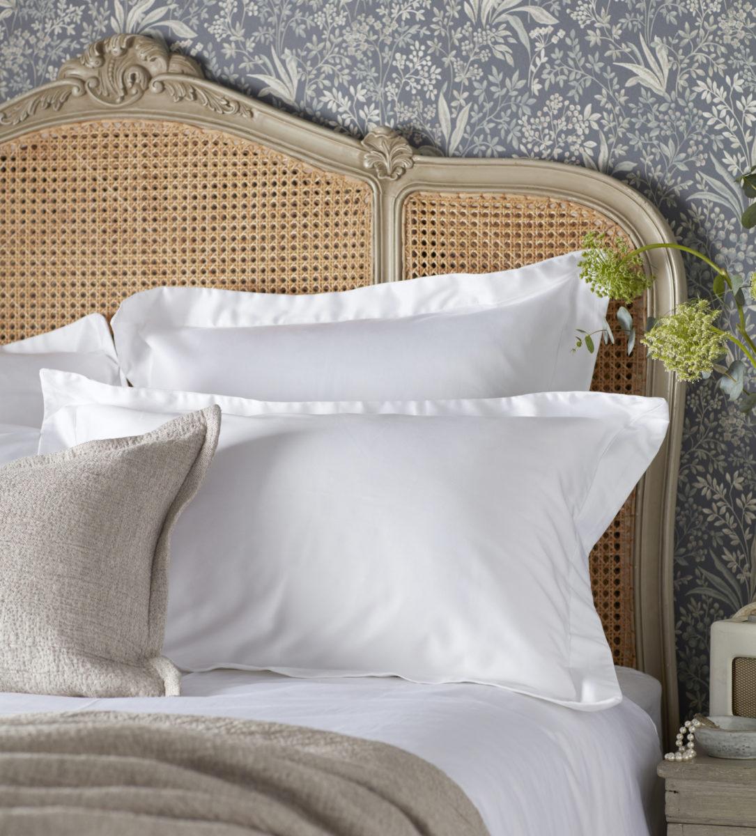 600 Thread Count Luxury White Oxford Pillowcase | Secret Linen Store