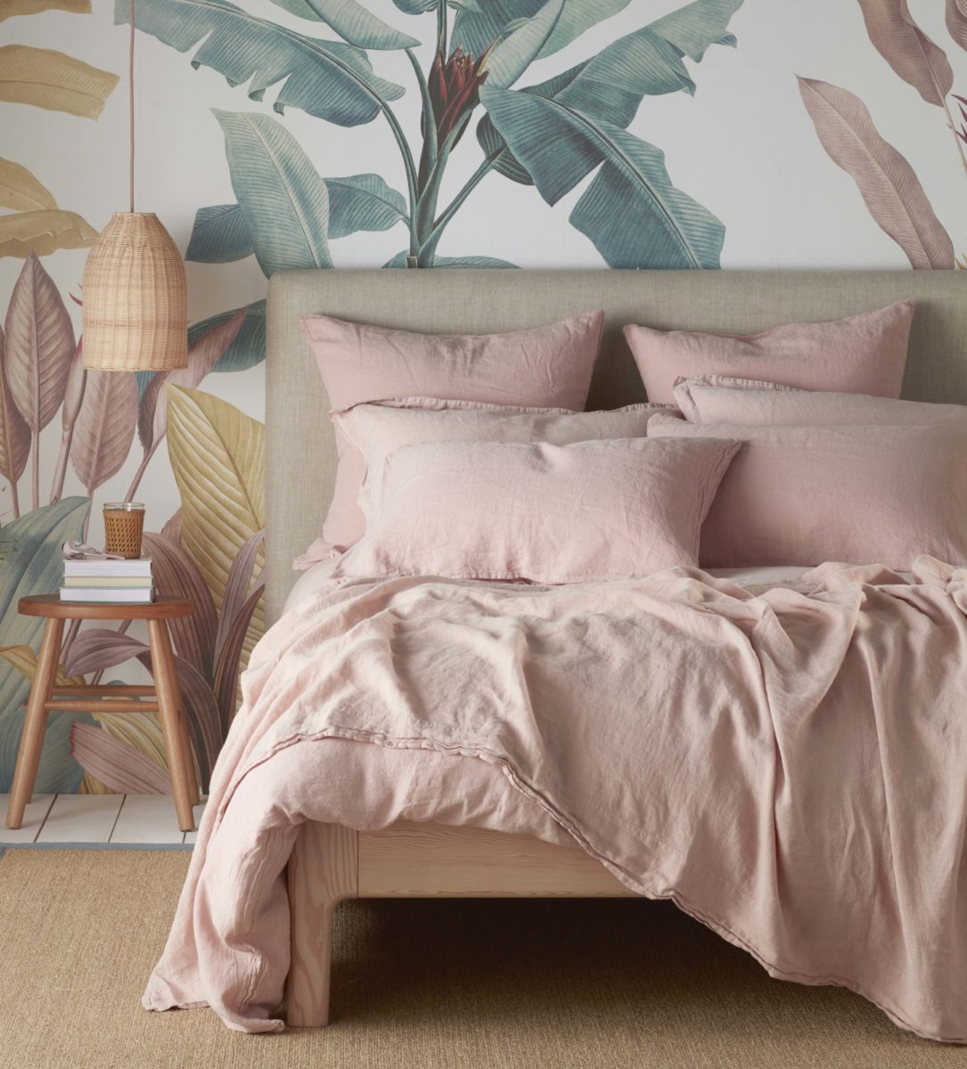 Blush Pink 100 Linen Duvet Cover Secret Linen Store