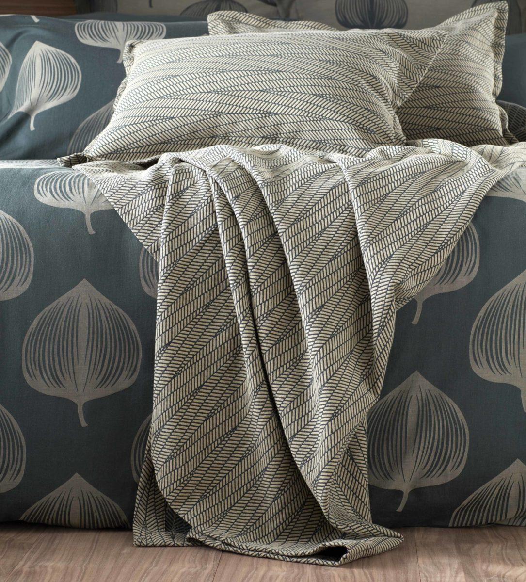 Zig Zag Forest Green Bed Throw Secret Linen Store