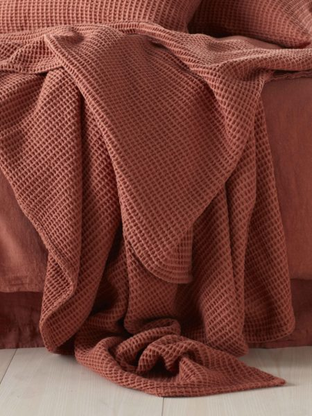 Spice Big Waffle Bed Throw