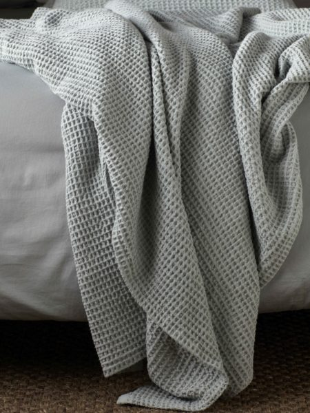 Sage Big Waffle Bed Throw