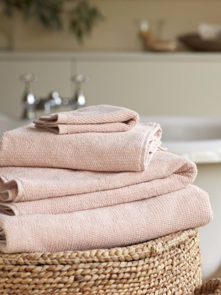 Blush Pink Cotton Towels