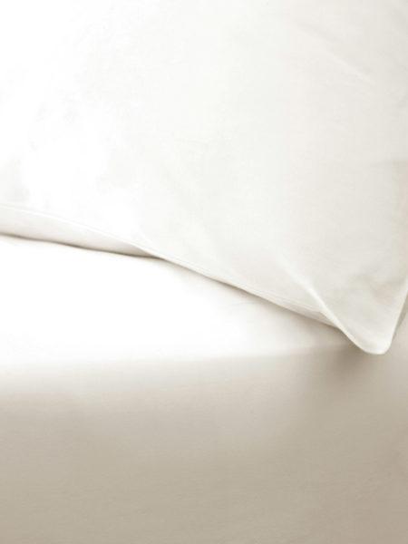 Cream Cotton Percale 200 Thread Count Housewife Pillowcase