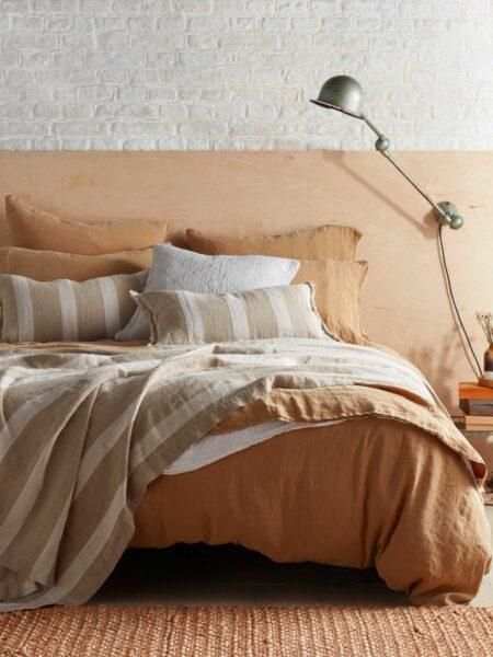 Cumin 100% Linen Bed Linen