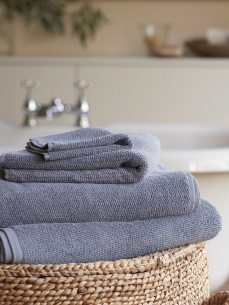 French Blue Cotton Towels