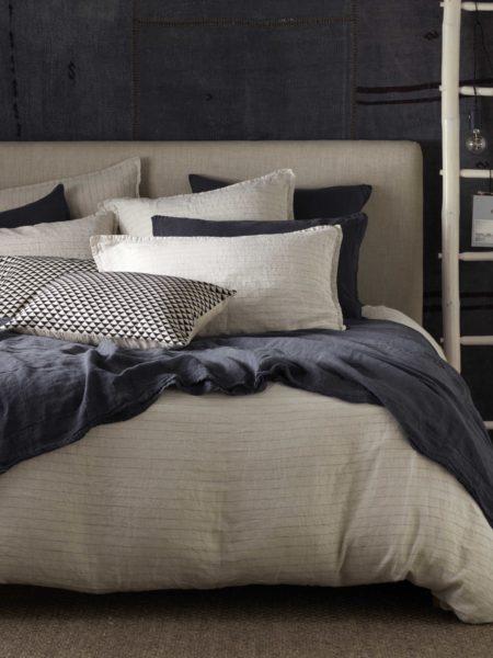 Natural Stripe 100% Linen Duvet Cover