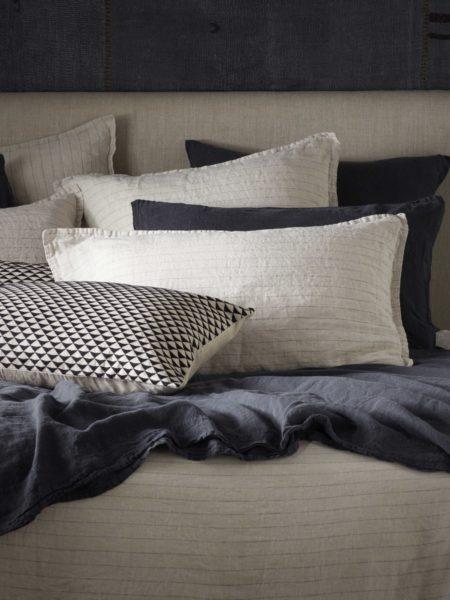 Natural Stripe 100% Linen Bed Linen