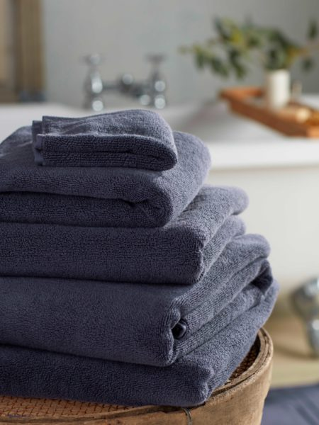 Navy Luxury Cotton Towels