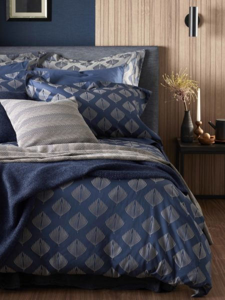 Pinecones Midnight Blue Duvet Cover