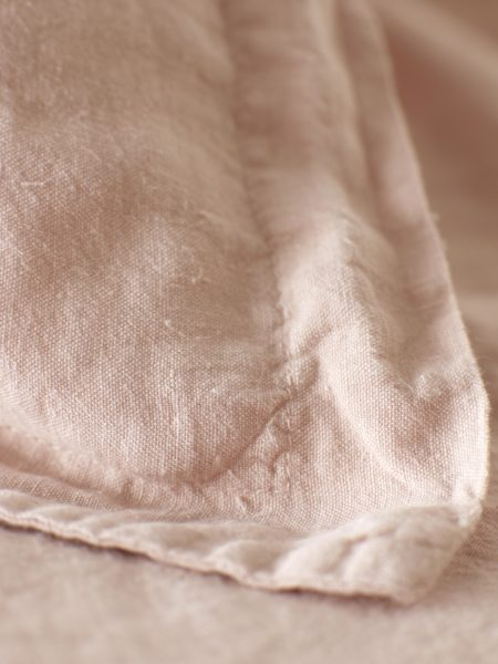 Blush Pink 100% Linen Oxford Pillowcase