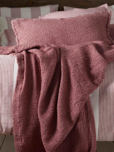 Porto Red Bed Throw and Cushion Cover