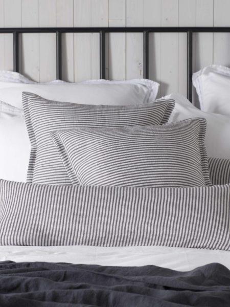 Sally Stripe Grey Cushion Cover