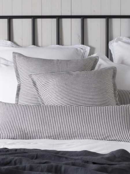 Sally Stripe Grey Cushion Cover