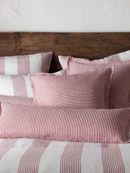 Sally Stripe Red Cushion Cover