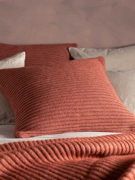 Spice Marl Knitted Cushion Cover