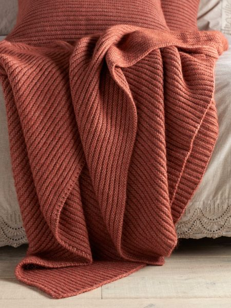 Spice Marl Knitted Throw