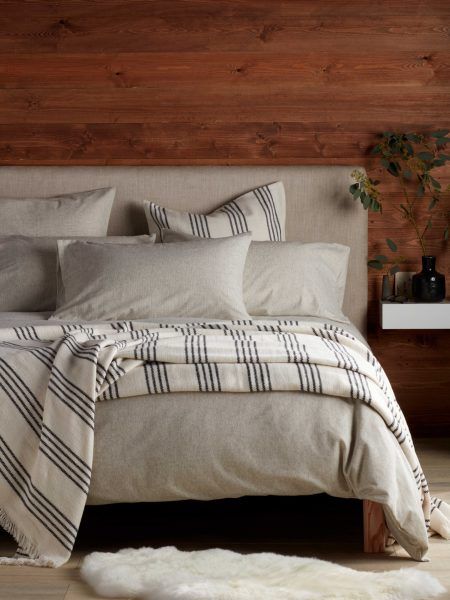 Stanley Stripe Brushed Cotton Duvet Cover