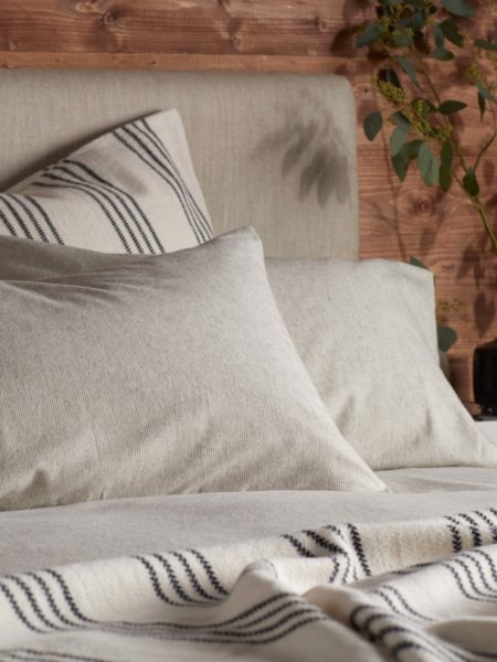 Stanley Stripe Brushed Cotton Pillowcase