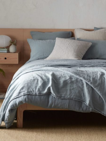 Teal 100% Linen Duvet Cover
