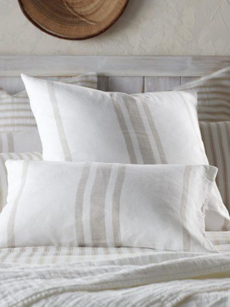 Natural Ticking Stripe Cushion Cover