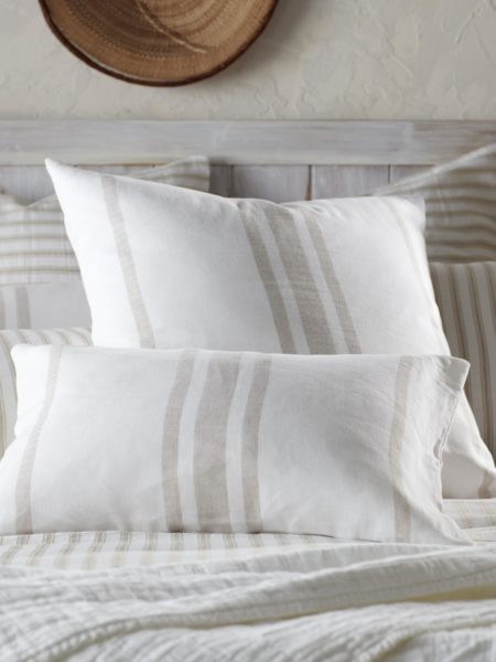Natural Ticking Stripe Cushion Cover