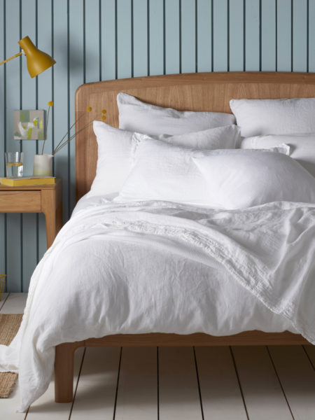 White 100% Linen Duvet Cover