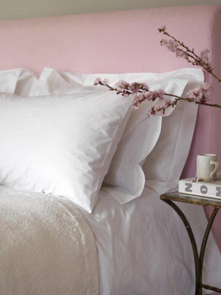 White Cotton Percale 200 Thread Count Euro Pillowcase