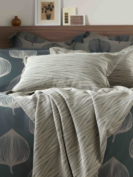 Zig Zag Forest Green Cushion Cover and Bed Throw