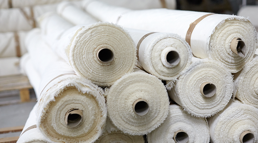 Rolls of Fabric Used to Make Our Bed Linen